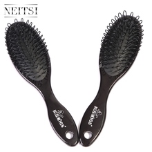 Neitsi Professional Tangle Hair Brushes For Salon 1PC Black Hair Styling Comb Natural Bristle Fast Shipping(China (Mainland))