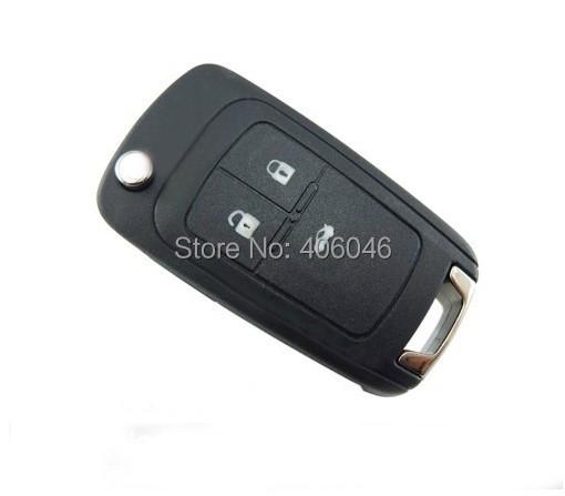 3 PCS/LOT Flip Folding Remote Key 3 Button ForChevrolet&Buick&Opel 433MHZ ID46 Chip HU100 Uncut Blade(China (Mainland))