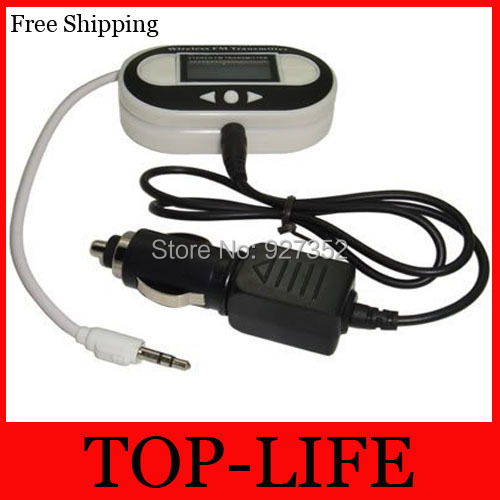 FREE SHIPPING SELLING BY 30pcs/lot LCD CAR FM TRANSMITTER FOR MP3 ZUNE SANSA FUZE NEW(China (Mainland))