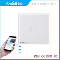 New EU Standard Broadlink TC2 Wireless 1 Gang Wall Light Switch Wifi Remote Control Touch Screen