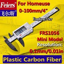 Envío gratis 0 – 100 mm 4 pulgadas electrónica Digital VERNIER calibrador de micrómetro / plástico alta calidad Material de fibra de carbono