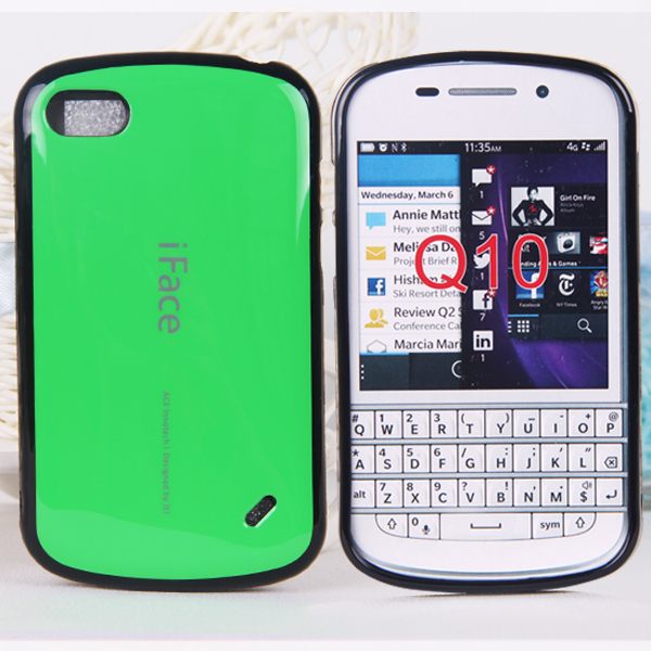 Free shipping, new arrival Korea style candy iface for blackberry q10 case TPU Soft cover case for BB q10(China (Mainland))