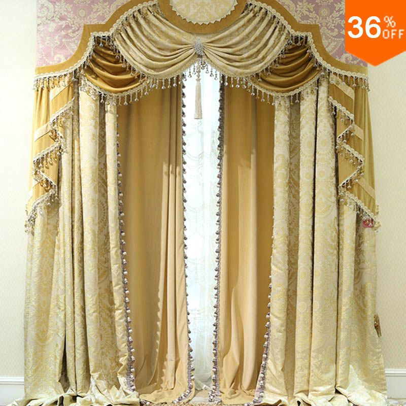 Valances For Windows With Shutters : Aliexpress buy golden shutters with valance