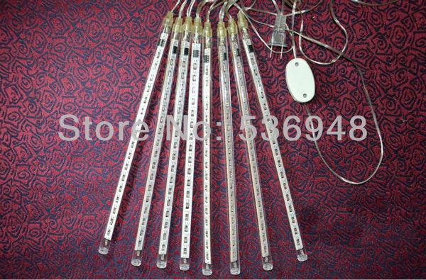 Free shipping 80 led 8 tudes LED christmas light LED Snow fall raining tube led meteor tube(China (Mainland))