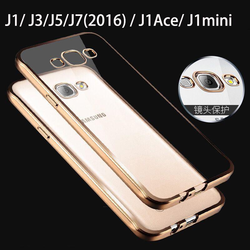 2016 j1 j120 j3 j320 j5 j7 luxury case for samsung galaxy j1 ace / j105 mini by rose gold tpu transparent clear soft cover cases(China (Mainland))