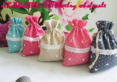 Jewelry Jute Linen and cotton drawstring pouches storage Bags for wedding(China (Mainland))