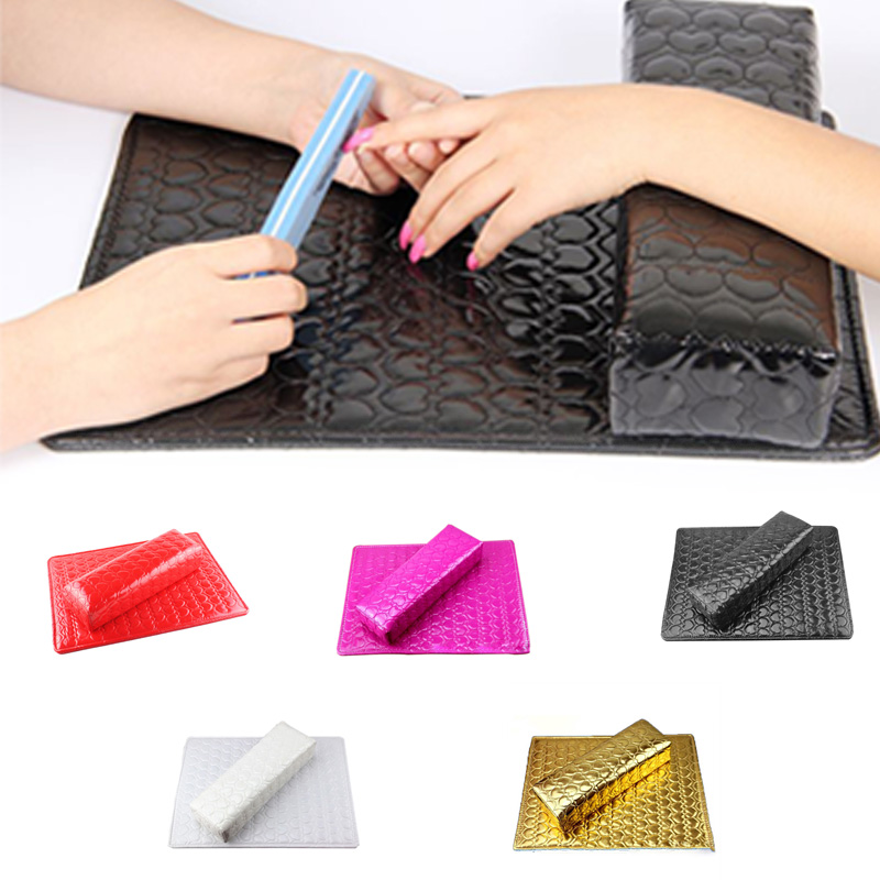 Column Cushion Pillow Salon Hand Holder Rectangle Leather Pad Nails Arm Rest Manicure Nail Art Accessories Tools(China (Mainland))