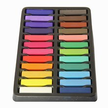 Best Sale Non-Toxic Hair Chalk Temporary Hair Dye Color's Soft Pastels Salon Hair Color Set Kit (24 PCS)(China (Mainland))