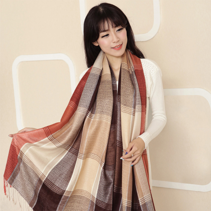 2015 Hot Women Scarf Winter Fashion Women Scarf Brand Famous Plaid Thick Shawls And Blanket Scarf For Women(China (Mainland))