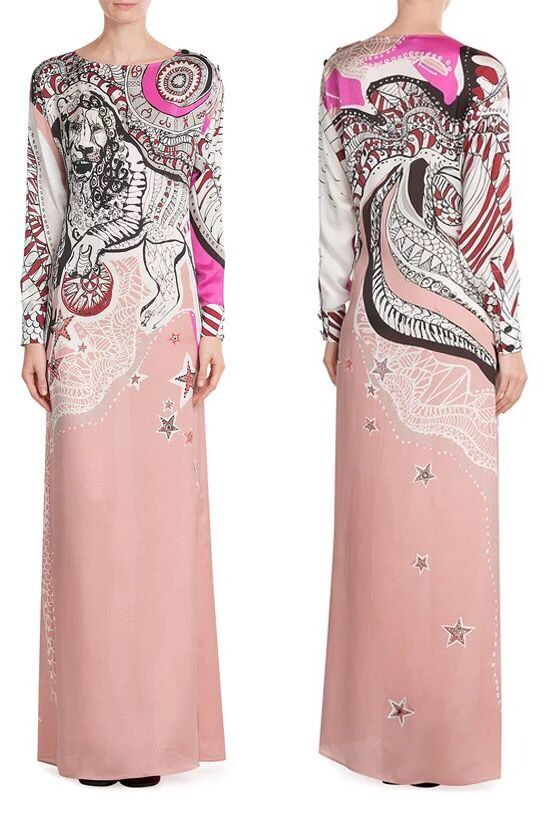 New arrival High quality epucci dress fashion printing sexy Jersey Long stretch knit pink Star Empty women's slim Dresses(China (Mainland))
