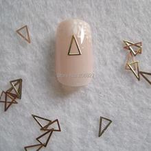 MS269-2 100pcs Gold Cute Long Triangle  Metal Sticker Nail Art Metal Sticker Nail Art Decoration Fancy Outlooking