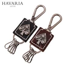 HAVARIA Hand woven High-grade classic Genuine Leather Men Women keychain jewelry car key chain ring holder bag pendant pkys-046(China (Mainland))
