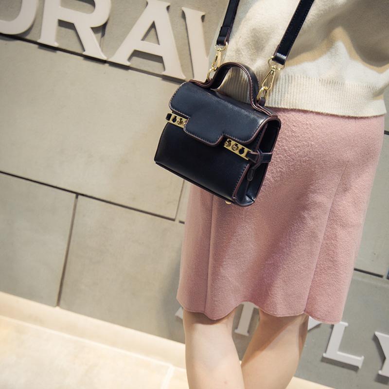 Women Messenger Bags Handbags Bolsos Mujer 2016 Fashion Tide Small Square Package Handbag Portable Shoulder Bag Diagonal Bags(China (Mainland))