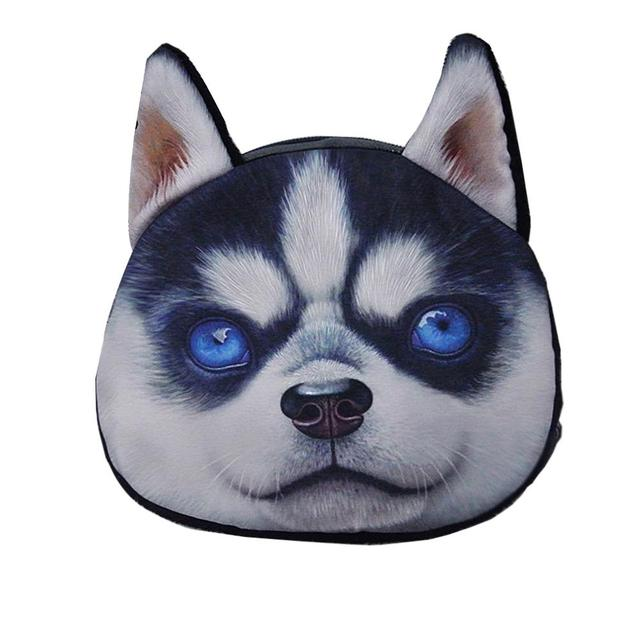 3D монет симпатичные собаки мультфильм печать животных лицом молнии чехол портмоне ...
