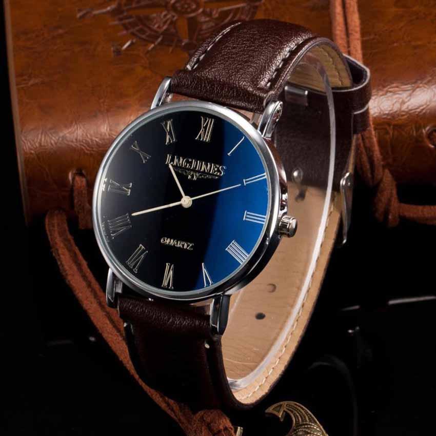 Гаджет  reloj hombre marca de lujo relogio masculino Luxury Fashion Leather Quartz Analog Watch Watches mens watches top brand luxury None Часы