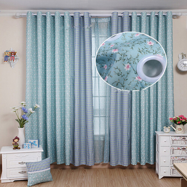 Rustic small flower curtain window curtain piaochuang finished product