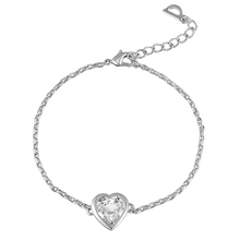 CDE Heart Pendant Charm Bracelet Female Chain Bracelets Made with Austrian Swarovski Element B0107B(China (Mainland))