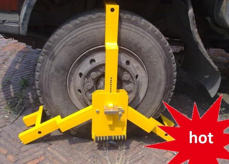 Heavy duty lorry wheel lock lorry dumping truck tyre lock heavy duty auto tire clamp lock anti-theft auto wheel clip tool(China (Mainland))