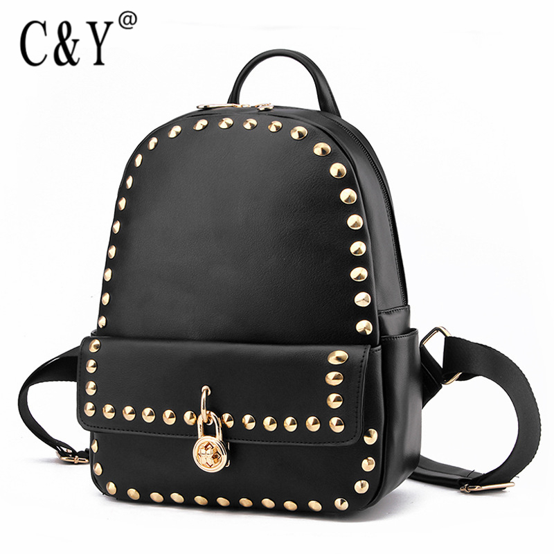 Brand Designer Women Plum Lock Rivet Style Backpack Fashion PU Leather School Bag Girls Large Capacity Shoulder Travel Bag ZA27<br><br>Aliexpress