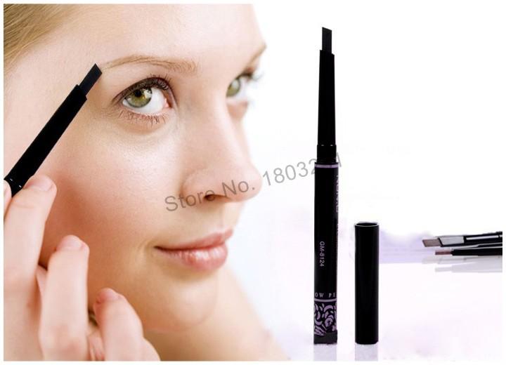 Eyebrow Pencil Fashion Eyebrow Enhancer Brand Makeup 5 Style Paint For Eyebrows Automatic Waterproof Beauty Tools 1PC Black Dark Brow