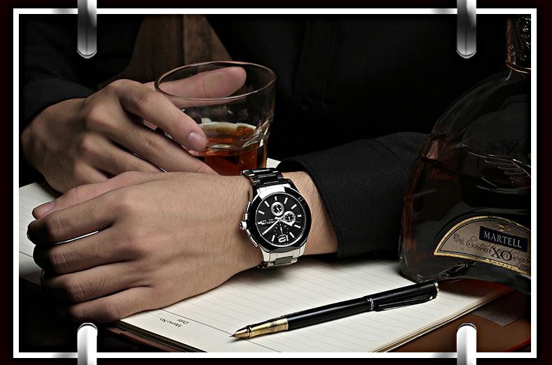 2016 Новый Тренд Мужчины Платье Марка Бингер Смотреть Браслет, Керамические Большие часы Автоматическая Мужские Наручные Часы Лучшее Качество