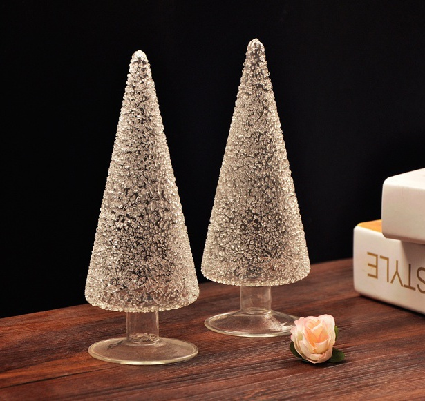 Exquisite Glass Tree Model Tabletop Decoration Glassware Craft Embellishment Accessories for Christmas and Souvenir Present(China (Mainland))