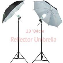 Selens Photo Studio Lighting Umbrella (Fibre Frame) 84cm/33″ Black & Silver