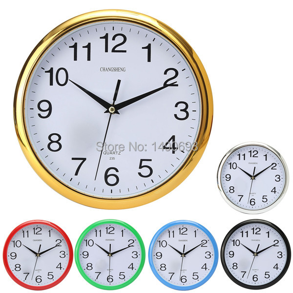 2015 New Large Vintage Round Modern Home Bedroom Retro Time Kitchen Wall Clock Quartz with Six colors(China (Mainland))