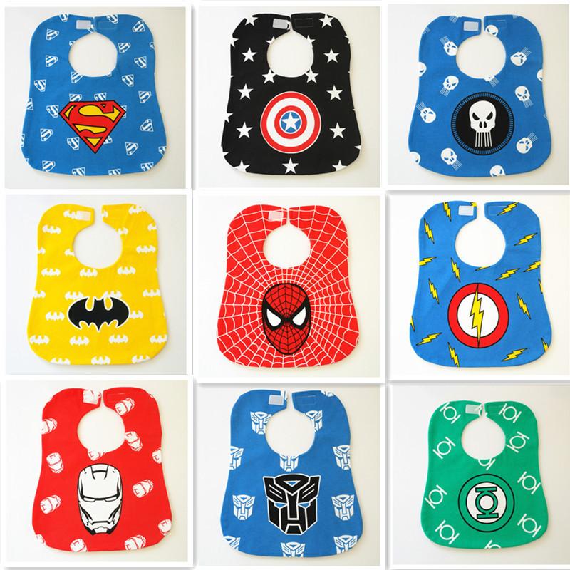 Colorful cartoon infant bibs waterproof bib cotton scarves lunch - Top Buy store