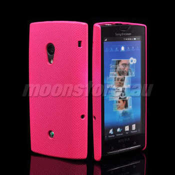 FOR HARD MESH CASE COVER SONY ERICSSON XPERIA X10 PINK