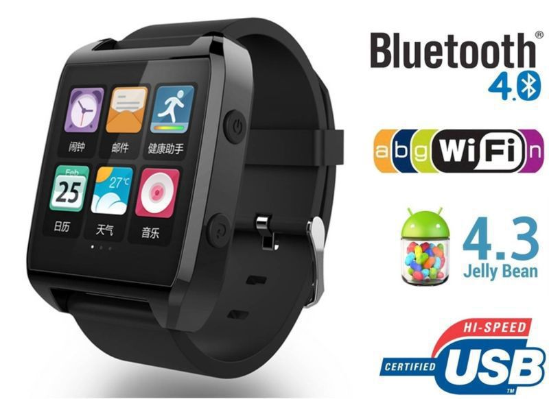 """ZWatch 1.5"""" Smart watch Bluetooth Call SMS Sync Cell Phones & Accessories For Android & IOS phone wristwatches(China (Mainland))"""