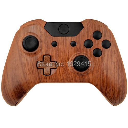 IVY QUEEN Wood Grain Controller Shell Kit For Microsoft XBOX One 1 Wireless Controllers Hydro Dipped