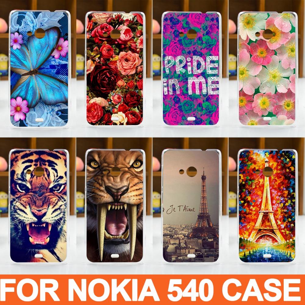New Hot High Quality PC Painted Cartoon Cute UV PrintCover Case For Microsoft Nokia Lumia 540 Cases Nokia 540 phone cover(China (Mainland))