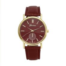6Colors Quartz Watch Women Relogios Femininos Geneva Leather Band Analog Quartz Vogue Wrist Watch Women Watches