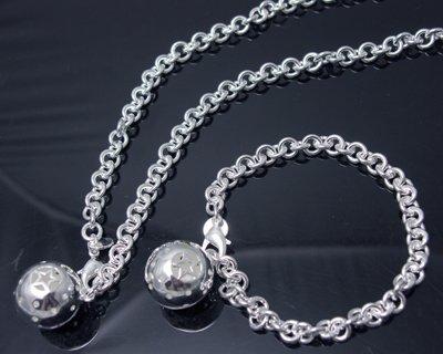Free shipping wholesale fashion jewelry 925 Silver Set Bracelet+Necklace S107