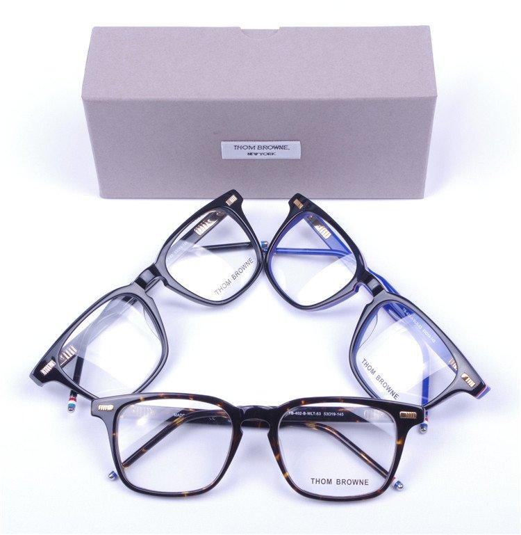 Brandy Men Women Optical acetate prescription spectacle Square Thom Browne tb402 TB-402 Myopia Eye glasses Frame Eyeglasses