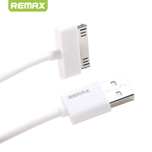 Fast Charging USB Cable for iPhone 4 Original Remax 30Pin 2.1A Data Sync Cables USB for iPhone 4S 100cm White Cord for iPad 2 3(China (Mainland))