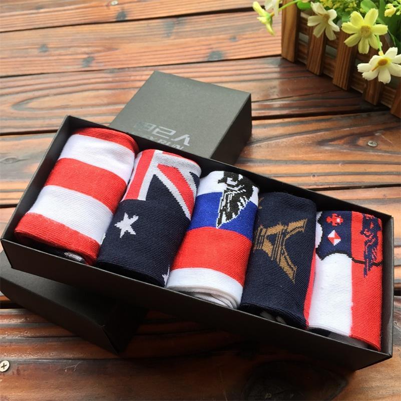Fashion Casual men Brand cotton socks Spring Summer men socks High Quality 5pairs/lot gift box wc003(China (Mainland))