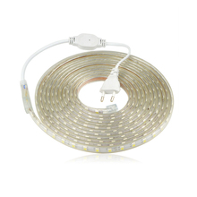 Buy Waterproof 220V SMD 5050 5m 10m 15m 20m 25m led tape flexible led strip light 60 leds/M outdoor garden lighting with EU plug for $3.15 in AliExpress store