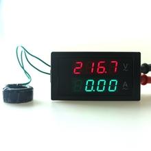2 in 1 digital Voltmeter Ammeter AC200-450V 0-100A volt amp meter voltage meter current meter ampere panel meter Free shipping