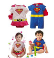 Summer New Fashion kids boy clothes jumpsuit cartoon cotton baby boy rompers cute superman baby girl romper bebe clothing ACS019(China (Mainland))