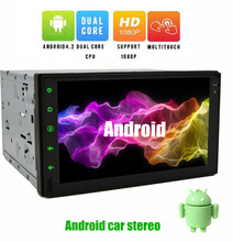 Android 4.2 Double 2DIN Car Audio Stereo 7Inch Car Radio Player GPS Autoradio Electronics Headunit Mp3 Player+free rear camera