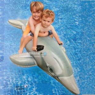 2016 New Package post INTEX children's swimming pool dolphin Shark Inflatable Boat baby water toy baby turtle mounts(China (Mainland))