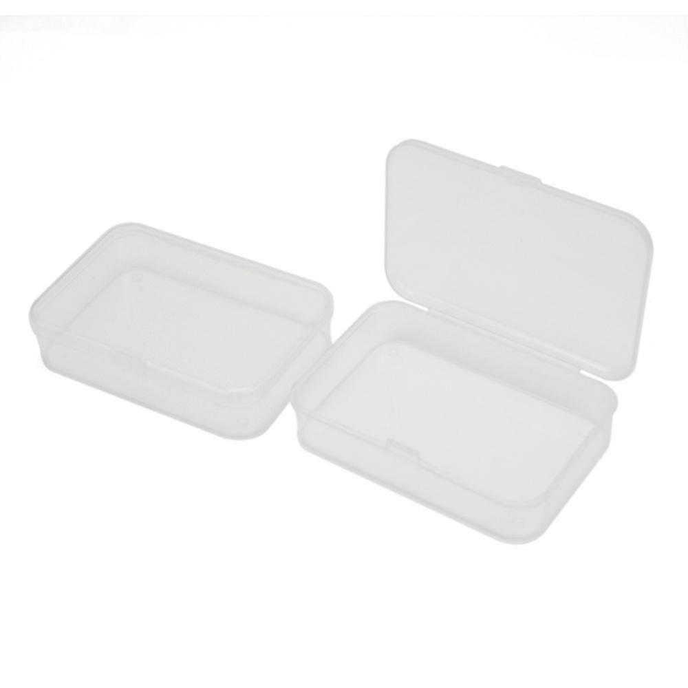 New Promotion Best Quality 2Pcs Plastic Clear Transparent Storage Collections Container Box Case(China (Mainland))