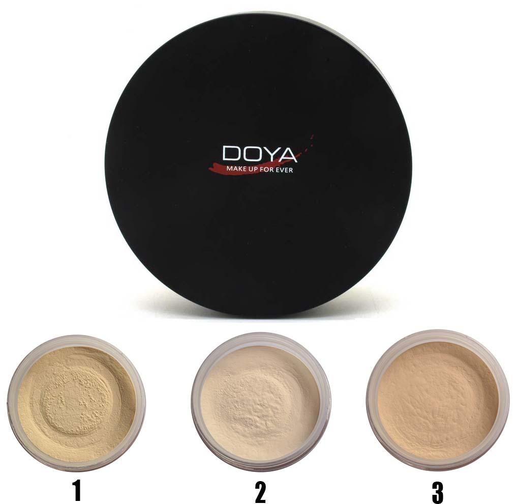 Doya neta músculo definición Translucent Loose Powder fundación Brighten iluminar la acabado mate maquillaje polvos sueltos(China (Mainland))
