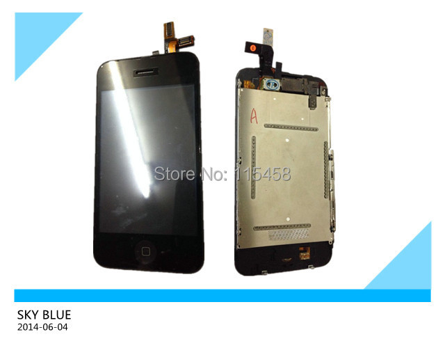 5PCS/LOT lcd screen for iphone 3GS with touch screen digitizer assembly by free shipping(China (Mainland))