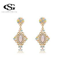 ANGELADY  earrings fashion18k gold plated  Earrings top quality  earrings For Women Party Wedding(China (Mainland))