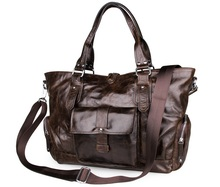 Maxdo Vintage Chocolate Genuine Leather Women Briefcase For Office Work Portfolio Cowhide Women Messenger Bags #M7251