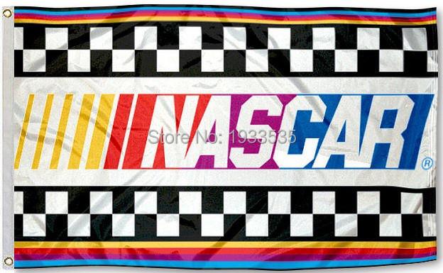 NASCAR 3x5 Foot Outdoor banner Flag(China (Mainland))