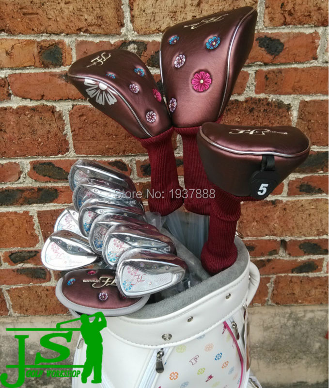 Maruman FL Golf Set Women Golf Clubs Maruman FL Driver + Fairway Woods + Irons + Putter + Bag L-Flex Graphite Shaft With Cover(China (Mainland))